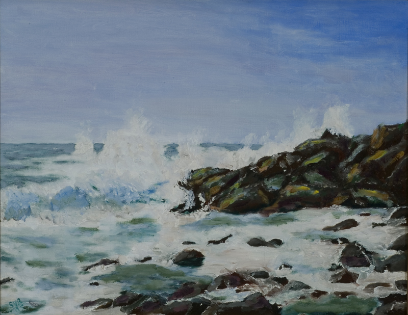 "The Surf at Monhegan Island   14"" x 18"" Oil on Canvas 2005   Private Collection"