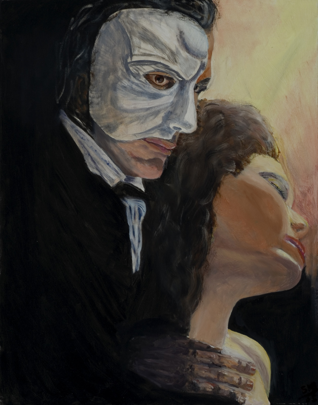 "Phantom of the Opera   22"" x 28"" Oil on Canvas 2005   Private Collection of Joy Hancher"
