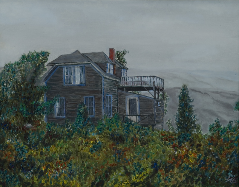 "Haraven Cottage at Monhegan Island   18"" x 14"" Oil on Canvas 2005   Private Collection of Christopher J. Dodd"