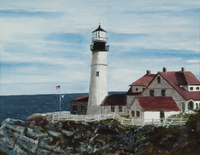 "Portland Head Light   18"" x 14"" Oil on Canvas 2005   Private Collection of Sue McKinley"