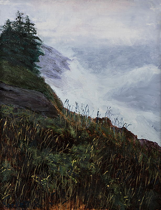 Trinity   The Headlands, Monhegan Island, Maine   14 in x 18 in Oil on Panel 2016