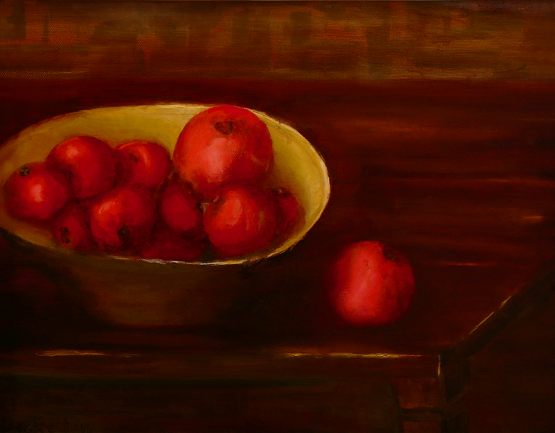"Tomatoes   11"" x 14"" Oil on Canvas 2011 Private Collection of Mary Giftos"