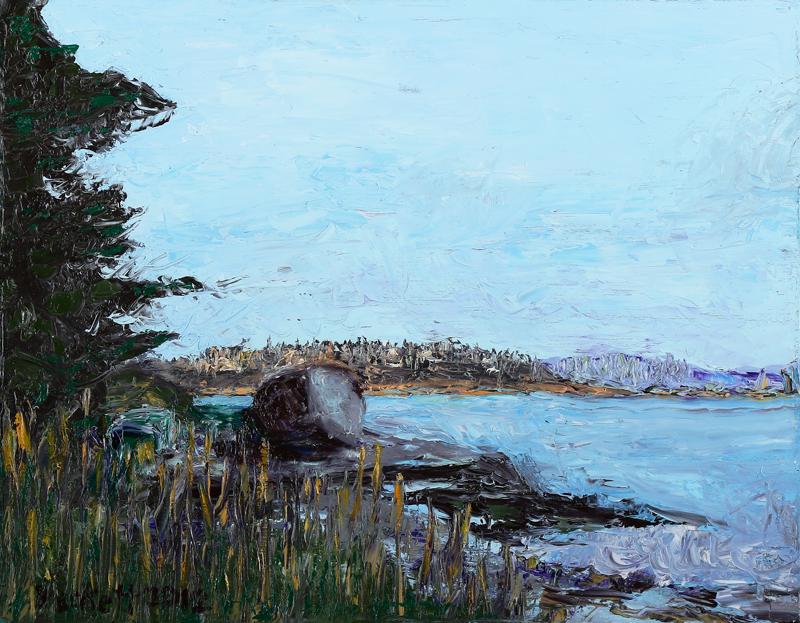 "View from Russ Island,   Stonington, Maine   11"" x 14"" Oil on Canvas 2012"