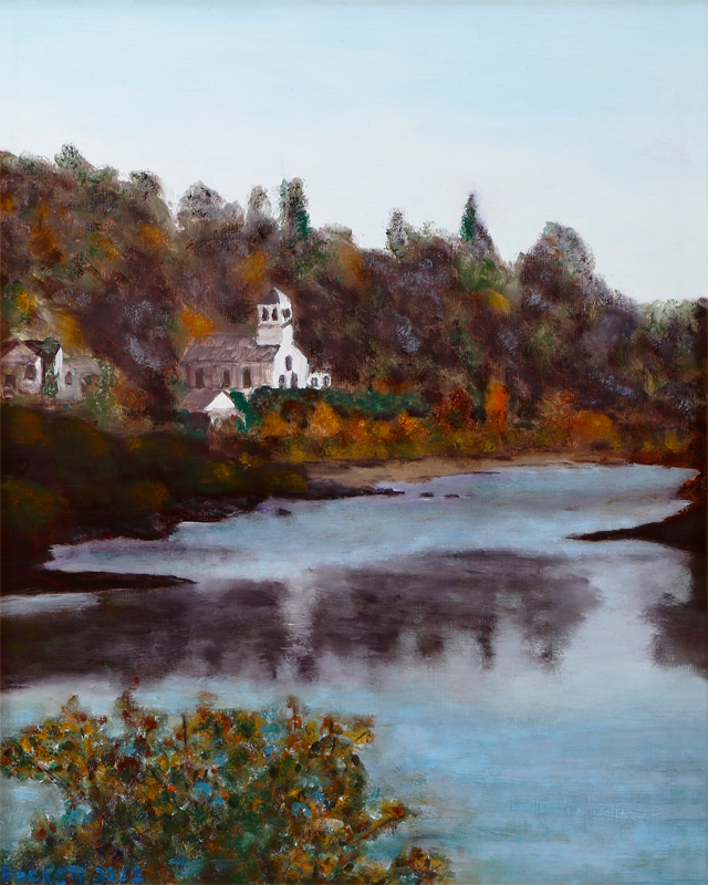 "East Machias River    16"" x 20"" Oil on Panel 2012   Photo Reference by Donna Fincher"