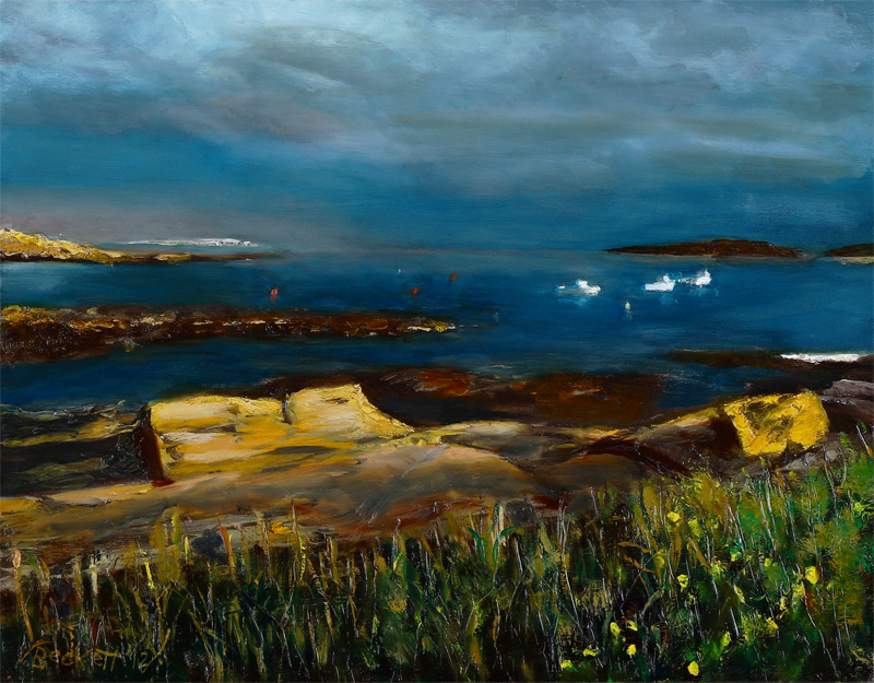 "Kettle Cove, Maine   11"" x 14"" Oil on Canvas 2012"