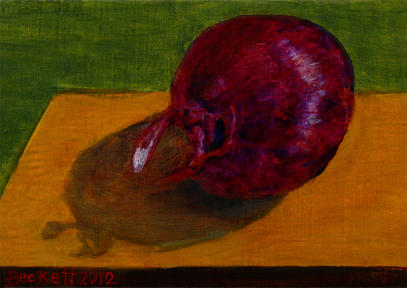 "Bermuda Onion   5"" x 7"" Oil on Belgian Linen on Panel 2012"