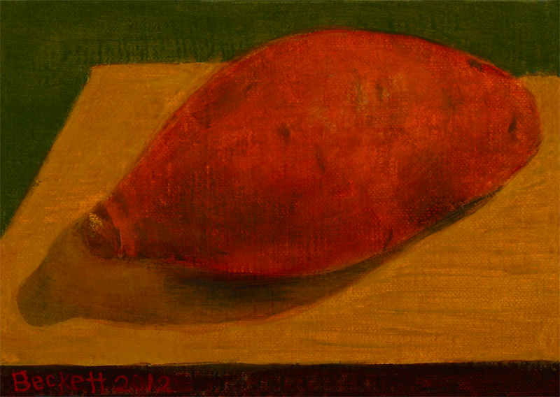 "Sweet Potato   5"" x 7"" Oil on Belgian Linen on Panel 2012"