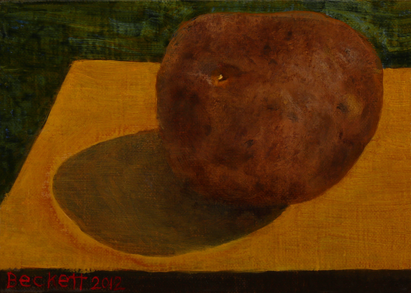 "Potato   5"" x 7"" Oil on Belgian Linen on Panel 2012"